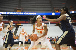 In her senior year, Briana Day reached 1,000 career points and 1,000 rebounds.