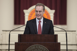 Chancellor Kent Syverud began his tenure in April 2014 following the departure of Nancy Cantor.